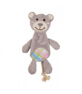 Peluche sonore ours ou lapin avec corde