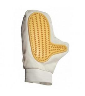 Gant de massage en tissu et picots en caoutchouc - droitier