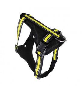 Harnais nylon jaune néon sport - doggy