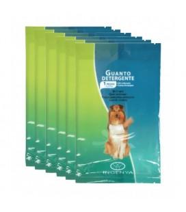 Lot de 6 gants de nettoyage pour chien emballés individuellement