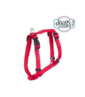 Harnais nylon rouge classique essentiel - doggy