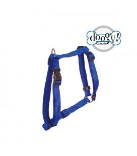 Harnais nylon bleu classique essentiel - doggy