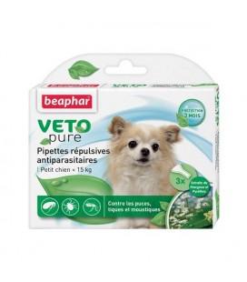 Pipettes répulsives anti-parasitaires petits chiens beaphar